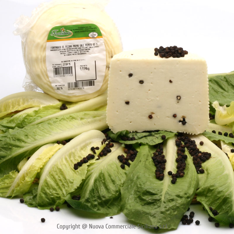 YOUNG CHEESE WITH BLACK PEPPER 'PRIMO SALE' KG 1*