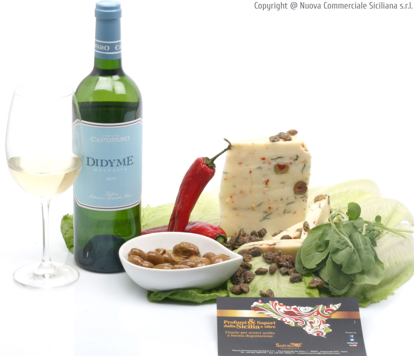 YOUNG CHEESE WITH CAPERS,OLIVES,HOT PEPPER AND ROCKET GR 400*