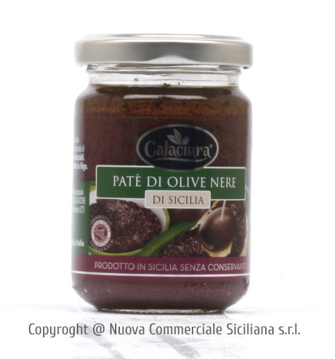 PATE' DI OLIVE NERE IN OLIO EXTRA VERGINE DI OLIVA GR 140
