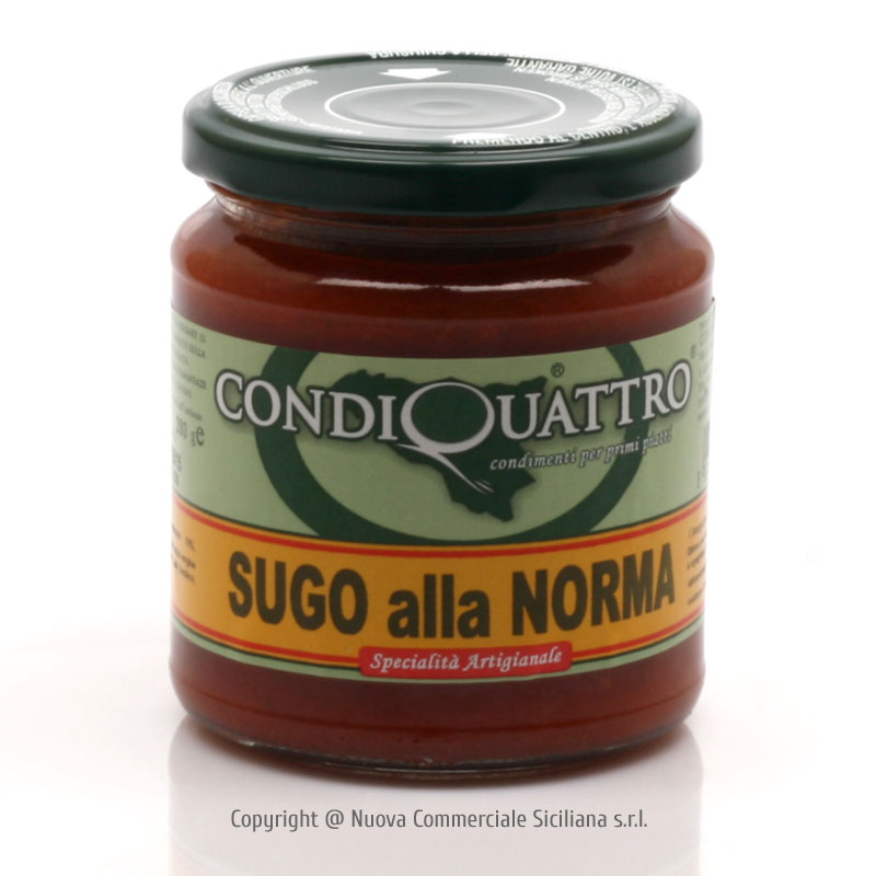 'NORMA' PASTA SAUCE WITH AUBERGINES GR 280