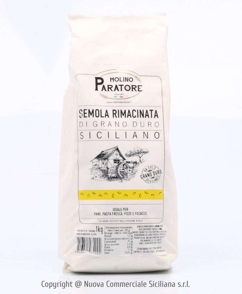 SICILIAN DURUM WHEAT 'RIMACINATA MOLINO PARATORE KG 1