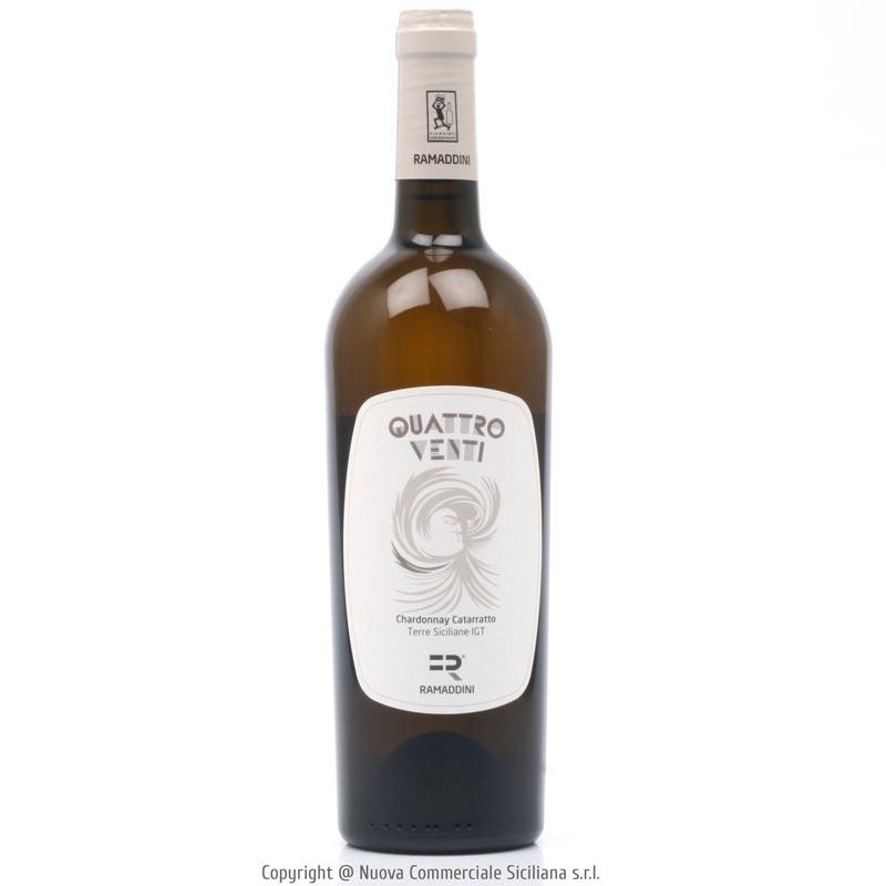 QUATTROVENTI CHARDONNAY CATARRATTO TERRE SICILIANE IGP 2020 - SICILY/WHITE CL 75
