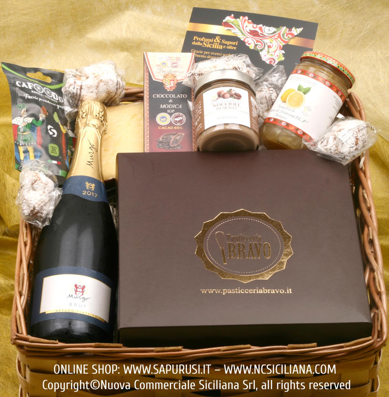 TRADITIONAL GIFT BASKET N. 2 - TYPICAL SICILIAN PRODUCTS