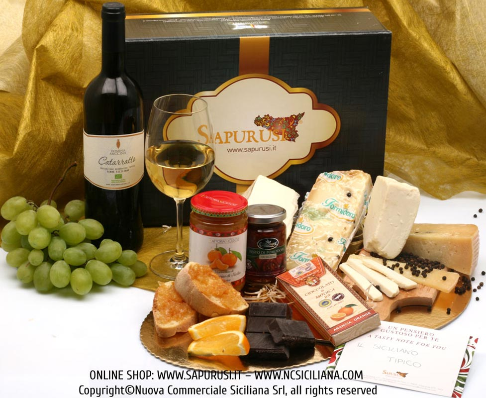 THE TASTY SICILIAN - TYPICAL PRODUCTS GIFT BOX