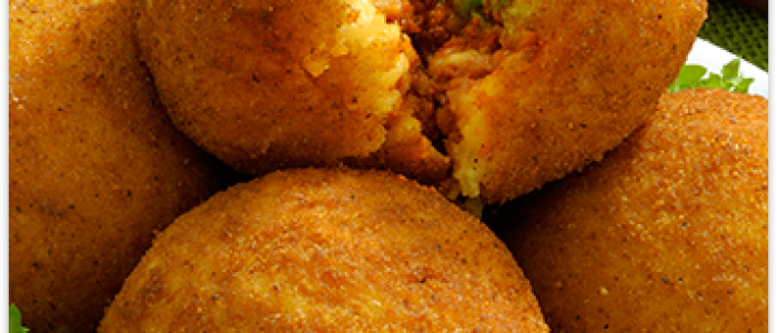 Rice Balls (Arancine) with Bolognese Sauce